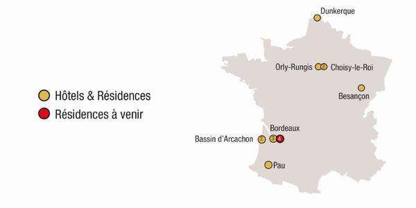 Carte Bordeaux Hotels.All Suites Appart Hotel Le Meilleur De L Accueil Et Du Service
